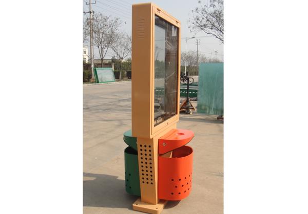 太阳能垃圾箱_广告垃圾箱HD-X004